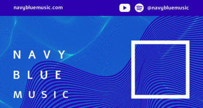 Twitch Banner Maker for a Musician with Navy Blue Wave Lines 2150d-el1