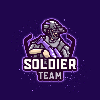 Logo Maker for a Gaming Team Featuring a Masked Soldier Graphic 2123a-el1