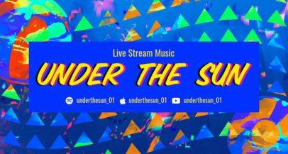 Fun Summery Twitch Stream Banner Creator for a Music Streamer 2721e