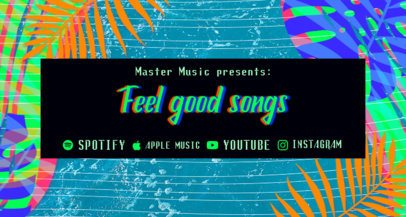 Twitch Banner Maker for a Musician Channel Featuring a Tropical Design 2721j