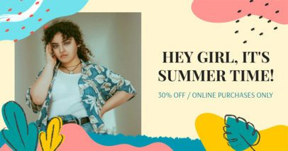 Facebook Post Maker with a Summer Theme for Online Sales 2720a