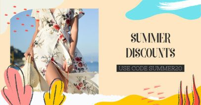 Facebook Post Template for a Summer Season Sale 2720i