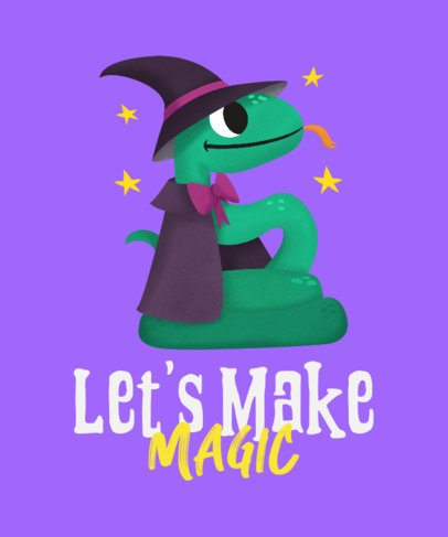 T-Shirt Design Creator Featuring a Magical Snake 2717c