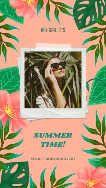 Summer-Feeling Instagram Story Design Creator for a Discount Announcement 2718g