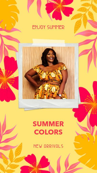 Instagram Story Design Maker with Summer Colors 2718h