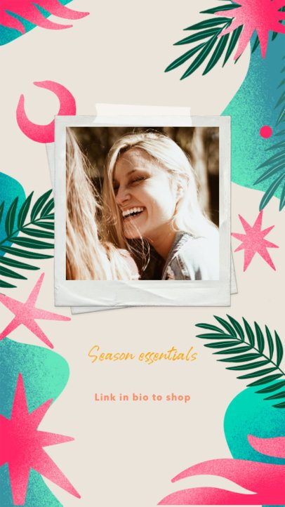 Instagram Story Generator Featuring a Summer Vibe with Instant Picture Frames 2718e