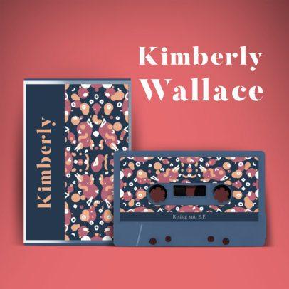 Album Cover Generator Featuring Retro Cassette Graphics 2712a