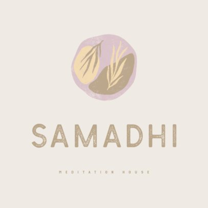 Online Logo Creator with Pastel Tones for a Yoga Studio 3464