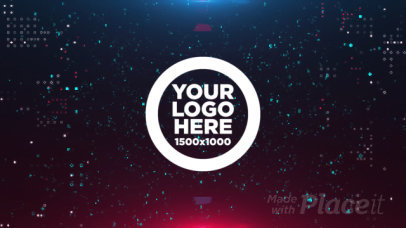 Intro Maker Featuring a Logo Reveal with Digital Graphics 1503-el1