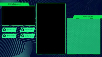 Twitch Overlay Maker Featuring a Futuristic Background 2726