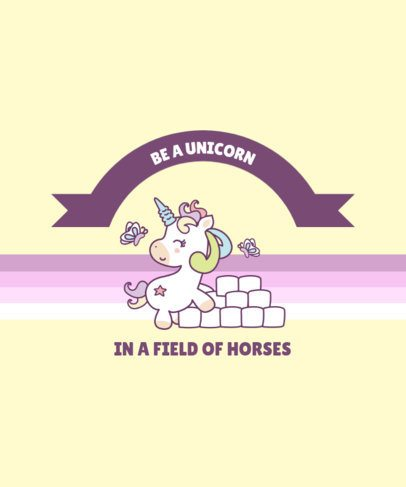 Kids T-Shirt Design Maker Featuring a Unicorn Quote 2222a-el1