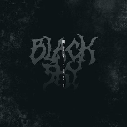 Music Logo Generator with a Dark-Style Typography 3467c