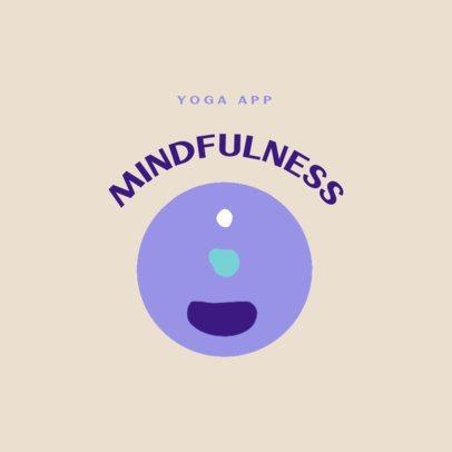 Simple Logo Template for a Yoga App 3465b