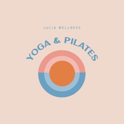 Wellness Logo Maker for a Yoga and Pilates Studio 3465f