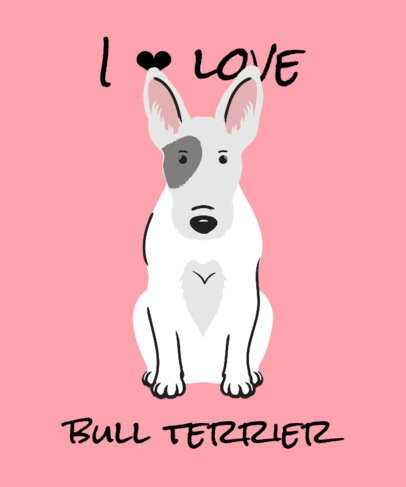 T-Shirt Design Maker Featuring a Bull Terrier Puppy Illustration 2737f