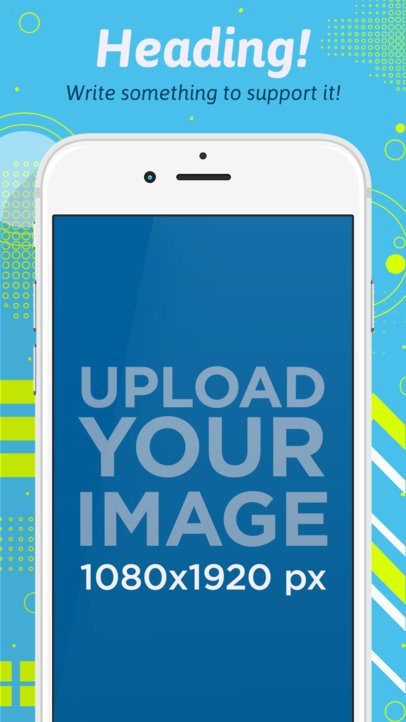 App Store Screenshot Builder of a White iPhone in Portrait Position 1355