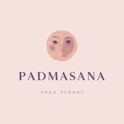 Logo Generator for a Yoga School Featuring a Moon Graphic 3464e