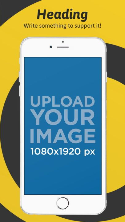 App Store Screenshot Maker of a White iPhone 6S Plus in Portrait Position 1318a