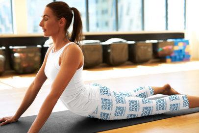 Mockup of a Woman Wearing Leggings While Practicing Yoga 35444-r-el2