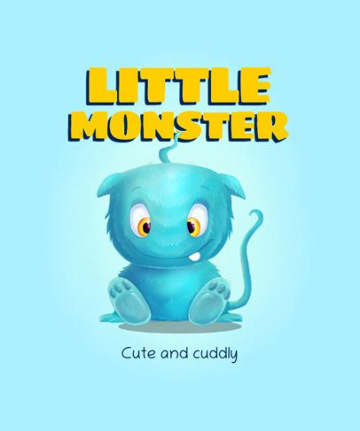 T-Shirt Design Maker for Kids with a Cuddly Monster Illustration 2212c-el1