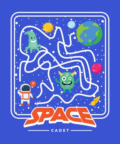 T-Shirt Design Maker Featuring an Astronaut Going Through a Space Maze 2197e-el1