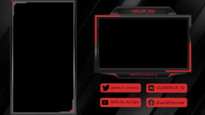 Twitch Overlay Creator for Vertical Games with a Dark Theme 2729a