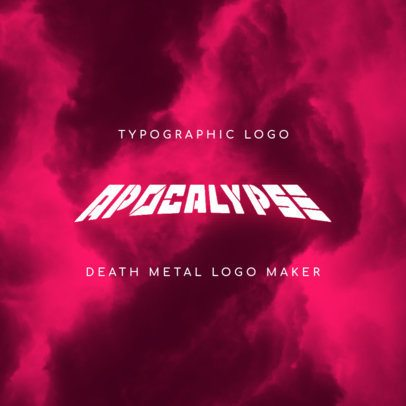 Typography Logo Maker for a Death Metal Musician 3466d