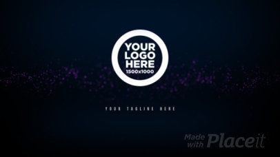 Intro Maker for a Logo Reveal with a Stream of Light 512-el1