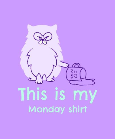 Funny T-Shirt Design Creator with a Mean Cat Illustration 2736b