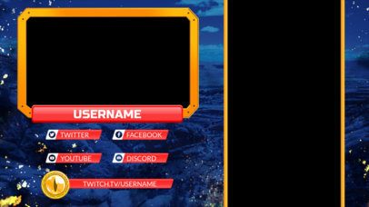 Twitch Overlay Maker for Mobile Gaming Featuring Vertical Screen Frames 2727