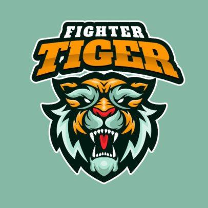 Customizable Logo Template Featuring Aggressive Wild Animals 2384-el1
