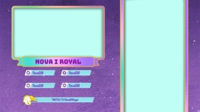 Unicorn-Themed Twitch Overlay Design Maker 2727j