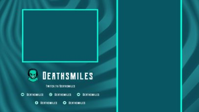 Twitch Overlay Template with Wavy Graphics for a Mobile Gaming Stream 2728k