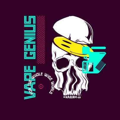 Clothing Brand Logo Maker Featuring Distorted Graphics 3486
