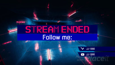 Twitch Stream Ending Screen Video Maker with a Retro Gaming Style 112
