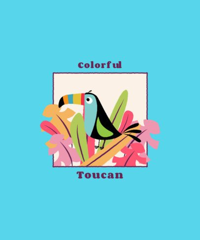 Kids T-Shirt Design Creator of a Colorful Toucan 2332a-el1