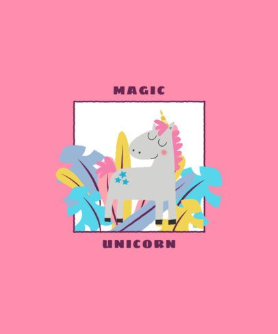 Customizable T-Shirt Design Generator of a Colorful Unicorn 2332d-el1