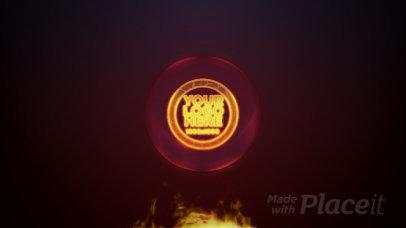 Intro Maker Featuring a Flaming Logo Revelation 2068-el1