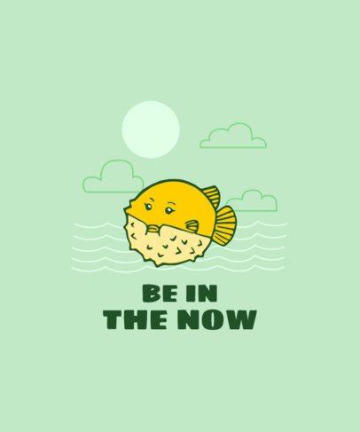 T-Shirt Design Maker Featuring a Pufferfish 2334a-el1