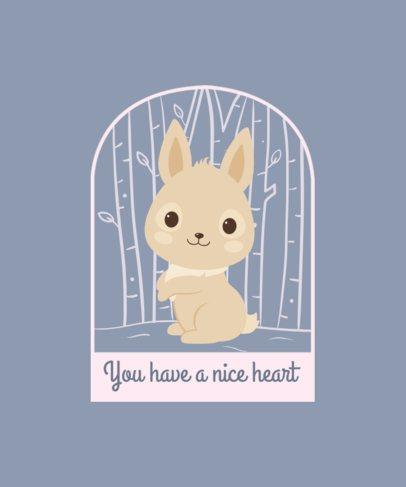 T-Shirt Design Creator Featuring an Adorable Bunny 2326d-el1
