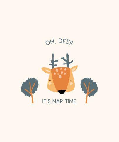 T-Shirt Design Creator of a Cute Deer 2326b-el1