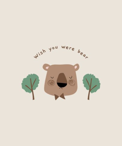 T-Shirt Design Maker for Kids Featuring a Bear 2326e-el1