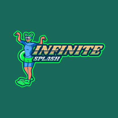Logo Generator Featuring a Woman with Flippers 3498e