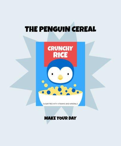 T-Shirt Design Maker Featuring a Penguin Cereal Box 2330c-el1