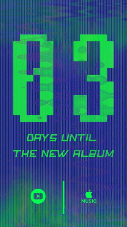 Instagram Story Maker for a Musician's New Album Countdown 2758i