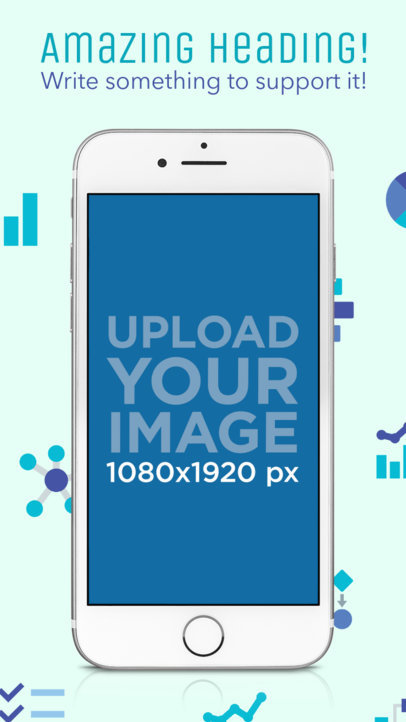 iPhone 7 White In Portrait Position iOS Screenshot Generator