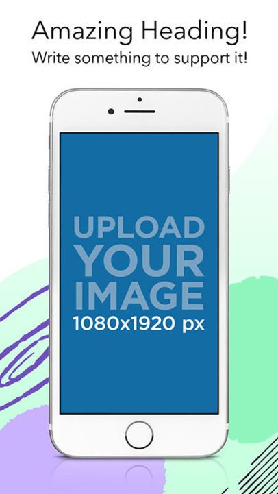 iOS Screenshot Generator of a White iPhone 7 in Portrait Position 1336