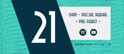 Music-Themed Facebook Cover Generator Featuring an Album Release Countdown 2760k