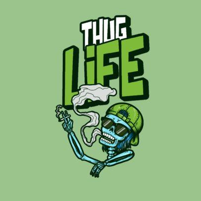 Clothing Brand Logo Maker with a Funny Skeleton Smoking MJ 3492i