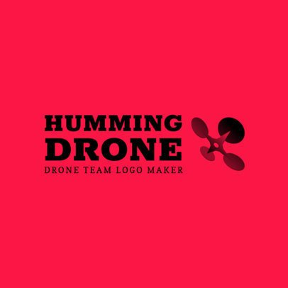 Tech Logo Maker Featuring a Four-Rotor Drone Graphic 3483c